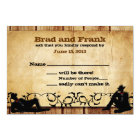 Cowboy Grooms Custom Gay Wedding RSVP Cards