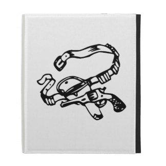 Cowboy Gun and Holster iPad Folio Case