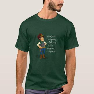 Cowboy Gun Control Debate Humorous T-Shirt