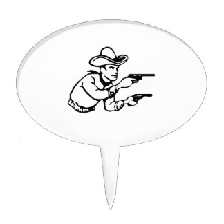 Cowboy Gunfight Cake Toppers