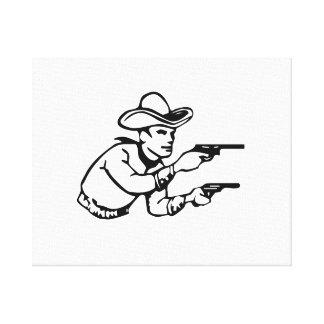 Cowboy Gunfight Canvas Print