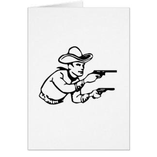 Cowboy Gunfight Greeting Cards