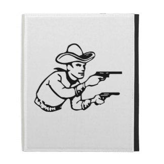Cowboy Gunfight iPad Folio Case