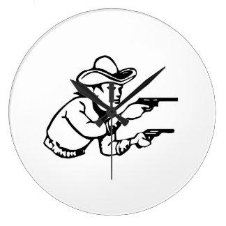 Cowboy Gunfight Wall Clock