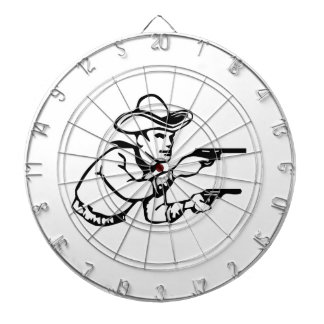 Cowboy Gunfight Dartboard With Darts