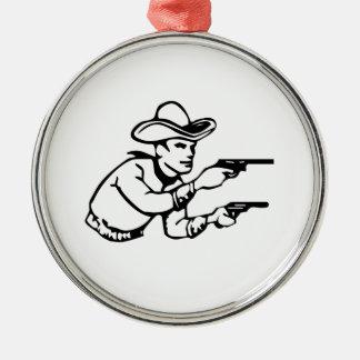 Cowboy Gunfight Christmas Ornaments