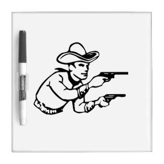 Cowboy Gunfight Dry Erase Board