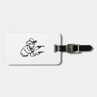 Cowboy Gunfight Tags For Luggage
