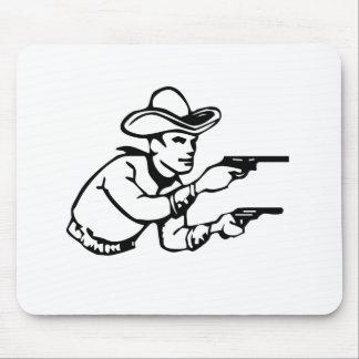 Cowboy Gunfight Mouse Pad
