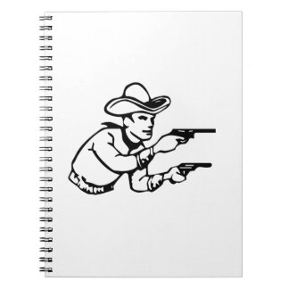 Cowboy Gunfight Spiral Notebook