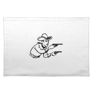 Cowboy Gunfight Placemats