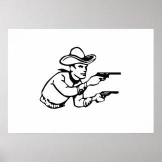 Cowboy Gunfight Print