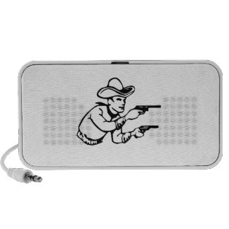 Cowboy Gunfight Portable Speaker