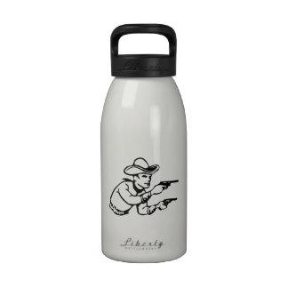 Cowboy Gunfight Drinking Bottle