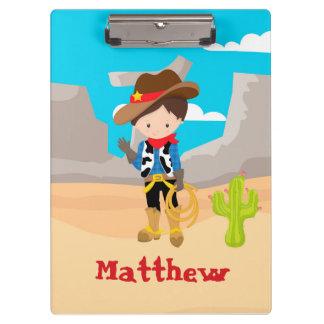 Cowboy Hand Wave Desert Clipboard