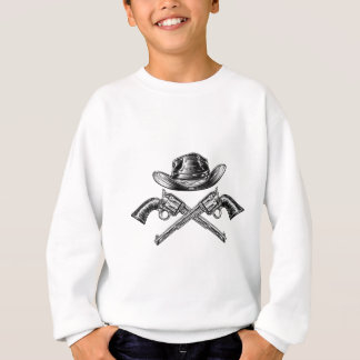 Cowboy Hat and Crossed Guns Sweatshirt