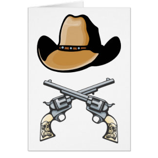 Cowboy Hat and Crossed Revolvers Cards