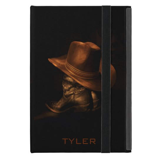 Cowboy Hat and Leather Boots Masculine Personalise iPad Mini Cover