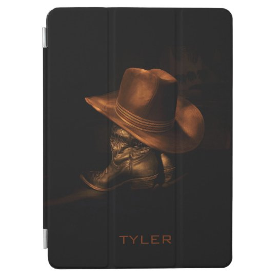 Cowboy Hat and Leather Boots Masculine Personalise iPad Pro Cover