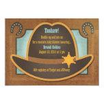 Cowboy Hat - Blue - Baby Shower Invitations
