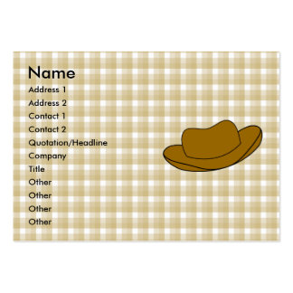Cowboy Hat illustration. Brown. Pack Of Chubby Business Cards