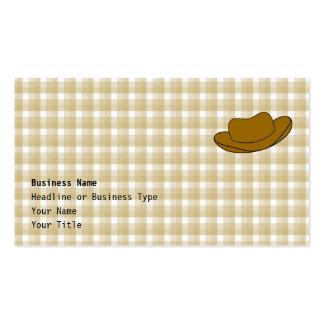 Cowboy Hat illustration. Brown. Pack Of Standard Business Cards