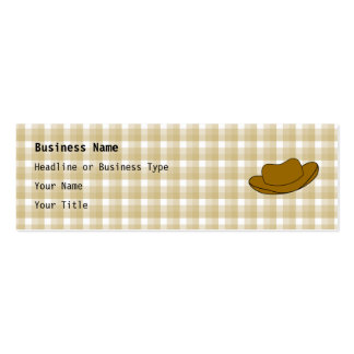 Cowboy Hat illustration. Brown. Double-Sided Mini Business Cards (Pack Of 20)
