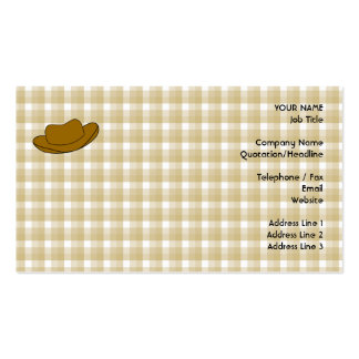 Cowboy Hat illustration. Brown. Double-Sided Standard Business Cards (Pack Of 100)