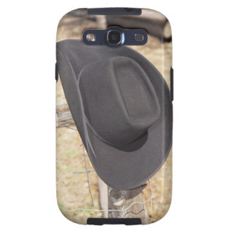 Cowboy hat on fence samsung galaxy s3 cover