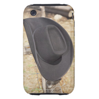 Cowboy hat on fence iPhone 3 tough cases