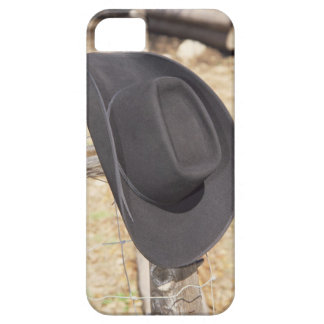 Cowboy hat on fence iPhone 5 case