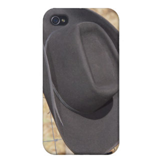 Cowboy hat on fence case for iPhone 4