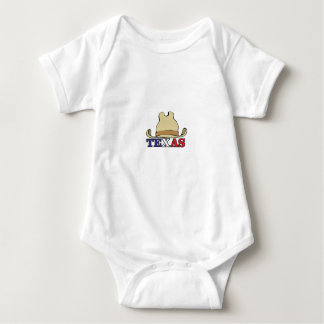 Cowboy hat texas baby bodysuit