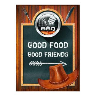 Cowboy Hat Western BBQ Invitation