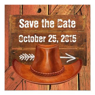 Cowboy Hat Western Rustic Invitation