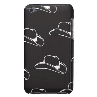 Cowboy Hat White black iPod Touch Covers