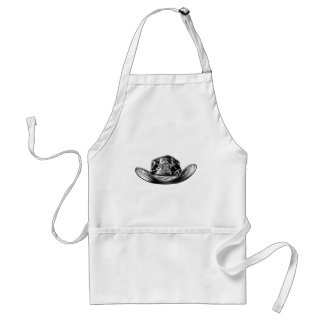 Cowboy Hat with Sheriff Star Badge Standard Apron