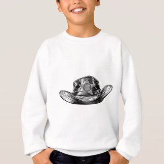 Cowboy Hat with Sheriff Star Badge Sweatshirt