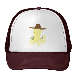 Cowboy Hat Yellow Octopus Hats