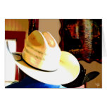 Cowboy Hats at Texas 290 Diner, Johnson City, TX Greeting Card