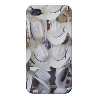 Cowboy hats hanging in a hat shop, Texas, USA Cover For iPhone 4