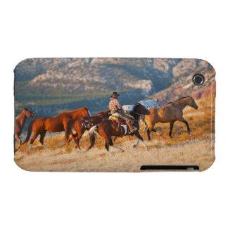 Cowboy herding wild horses 2 iPhone 3 Case-Mate case