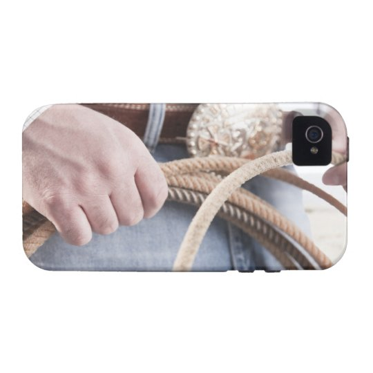Cowboy holding a rope Case-Mate iPhone 4 cover