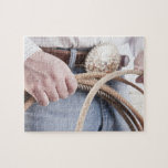 Cowboy holding a rope jigsaw puzzles