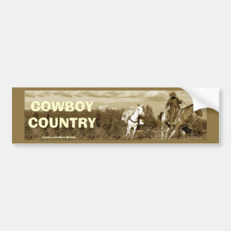 Cowboy Horse & Mule Bumper Sticker