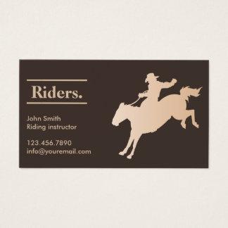Cowboy Horseback Riding Business Card