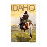 Cowboy & HorseIdahoVintage Travel Poster Postcards
