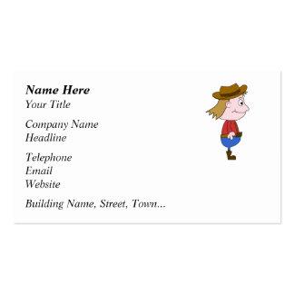 Cowboy illustration business card