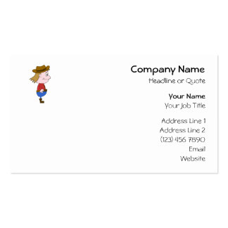 Cowboy illustration. Double-Sided standard business cards (Pack of 100)