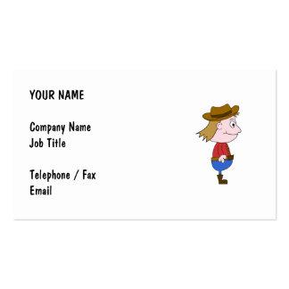 Cowboy illustration business card templates